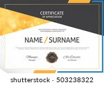 certificate template with clean ... | Shutterstock .eps vector #503238322