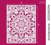 die cut ornamental panel with... | Shutterstock .eps vector #503240596