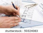 architectural plans and... | Shutterstock . vector #50324083