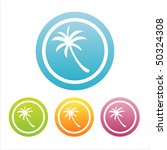 set of 4 colorful palm tree... | Shutterstock .eps vector #50324308