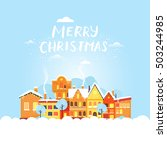 merry christmas and a happy new ... | Shutterstock .eps vector #503244985