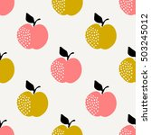 seamless repeating pattern with ... | Shutterstock .eps vector #503245012