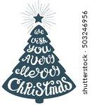 vector christmas tree of... | Shutterstock .eps vector #503246956