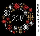 happy new year 2017 and... | Shutterstock .eps vector #503248702