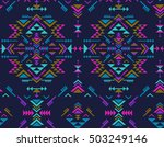 colorful ethnic seamless... | Shutterstock .eps vector #503249146