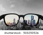 eye glasses looking to city... | Shutterstock . vector #503250526