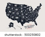vintage map of united states of ... | Shutterstock .eps vector #503250802