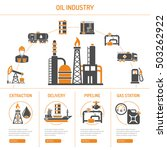 oil industry extraction... | Shutterstock .eps vector #503262922