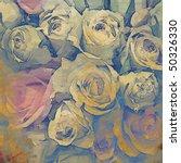 art floral vintage colorful... | Shutterstock . vector #50326330