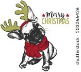 vector portrait of christmas... | Shutterstock .eps vector #503266426
