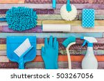a lot of cleaning tool... | Shutterstock . vector #503267056