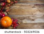 thanksgiving  or fall...   Shutterstock . vector #503269036