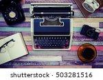 desk work retro tool   Shutterstock . vector #503281516