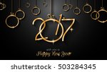 2017 happy new year background... | Shutterstock .eps vector #503284345