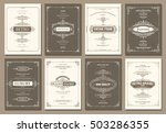 monogram creative cards... | Shutterstock .eps vector #503286355