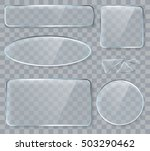 vector glass design elements... | Shutterstock .eps vector #503290462