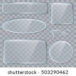vector glass design elements... | Shutterstock .eps vector #503290462