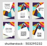 abstract vector layout... | Shutterstock .eps vector #503295232