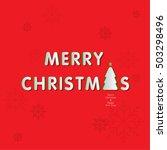 merry christmas   illustration... | Shutterstock .eps vector #503298496