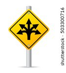 confusing direction road sign... | Shutterstock .eps vector #503300716