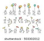 cartoon icons set of sketch... | Shutterstock .eps vector #503302012