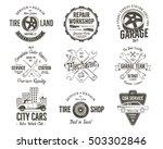 vintage car service badges ... | Shutterstock .eps vector #503302846