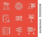 set of project management icons ... | Shutterstock .eps vector #503303248