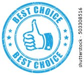 best choice thumb rubber stamp... | Shutterstock .eps vector #503308516