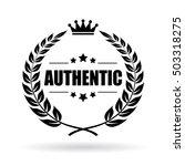 authentic laurel symbol vector... | Shutterstock .eps vector #503318275