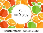 background of juicy apples and... | Shutterstock .eps vector #503319832