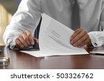 notary public in office... | Shutterstock . vector #503326762