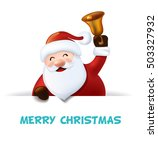 santa claus with bell. vector | Shutterstock .eps vector #503327932