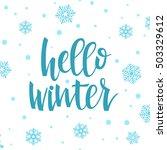 hello winter concept.... | Shutterstock .eps vector #503329612