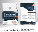 abstract vector modern flyers... | Shutterstock .eps vector #503330878