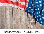 An American Flag Lying On An...
