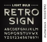 retro sign alphabet. vintage... | Shutterstock .eps vector #503337892