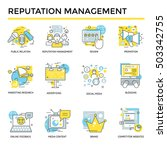reputation management concept... | Shutterstock .eps vector #503342755