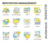 reputation management concept... | Shutterstock .eps vector #503342755