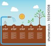 timeline infographic of... | Shutterstock .eps vector #503343508