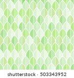 seamless pattern. leaves in...   Shutterstock .eps vector #503343952