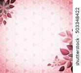 vintage vignette with flower... | Shutterstock . vector #503348422