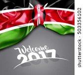 welcome 2017 kenya flag on...   Shutterstock . vector #503356102