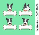cartoon character bull terrier... | Shutterstock .eps vector #503357068
