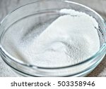 wheat flour in a large glass... | Shutterstock . vector #503358946