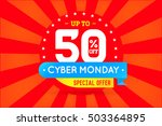 cyber monday sale sign banner... | Shutterstock .eps vector #503364895