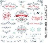 ornate christmas frames and... | Shutterstock .eps vector #503366722
