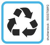recycle blue and gray glyph... | Shutterstock . vector #503370892