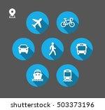 transport icons. walk man  bike ... | Shutterstock .eps vector #503373196