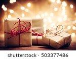 rustic retro gifts  present... | Shutterstock . vector #503377486