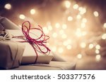 rustic retro gifts  present... | Shutterstock . vector #503377576